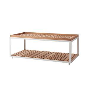 Cane-line - Level Sofabord Hvit, teak - 122x62