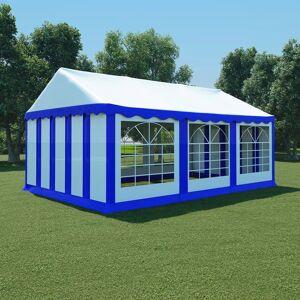 vidaXL Hagetelt PVC 4x6 m blå og hvit