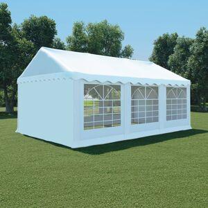 vidaXL Hagetelt PVC 4x6 m hvit