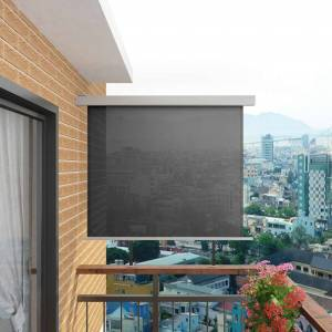 vidaXL Sidemarkise for balkong multifunksjonell 150x200 cm grå