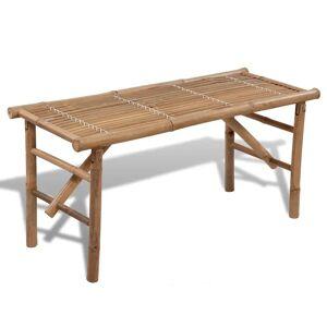 vidaXL Sammenleggbar hagebenk 118 cm bambus