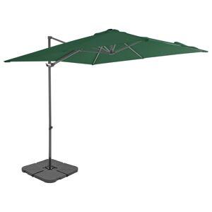 vidaXL Utendørs parasoll med bærbar base grønn