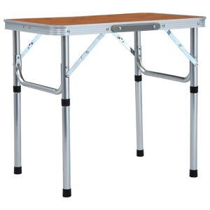 vidaXL Sammenleggbart campingbord aluminium 60x45 cm