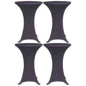 vidaXL Elastisk bordduk 4 stk 70 cm antrasitt