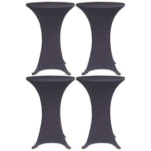 vidaXL Elastisk bordduk 4 stk 80 cm antrasitt