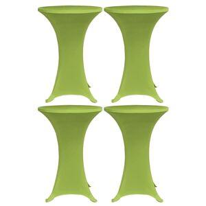 vidaXL Elastisk bordduk 4 stk 60 cm grønn