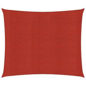 vidaXL Solseil 160 g/m² rød 3x3 m HDPE