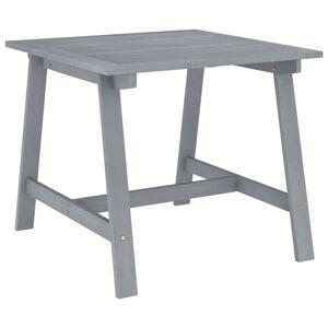 vidaXL Utendørs spisebord grå 88x88x74 cm heltre akasie