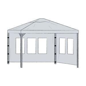 Brafab Hov sidovägg (grå) 1 par grå 3,5 x 3,5 m