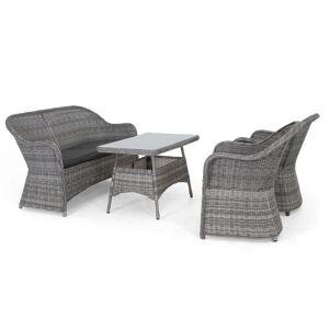 Selected Home Roma soffgrupp Grå med grå dyna 2-sitssoffa, 2 fåtöljer & bord