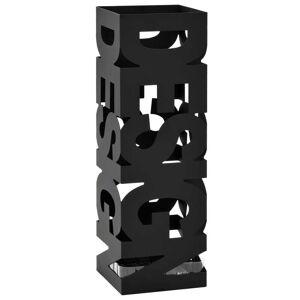 vidaXL Paraplyställ design stål svart