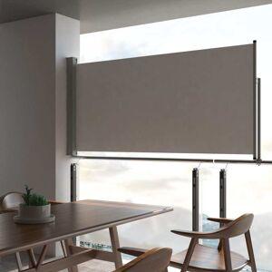 vidaXL Infällbar sidomarkis 120 x 300 cm grå