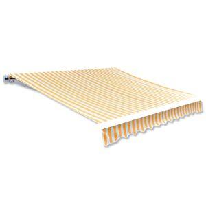 vidaXL Markisduk solros 3 x 2,5 m gul & vit (utan ram)