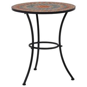 vidaXL Mosaikbord orange/grå 60cm keramik