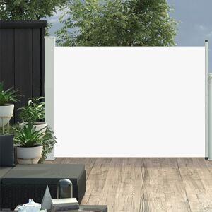 vidaXL Infällbar sidomarkis 100x500 cm gräddvit