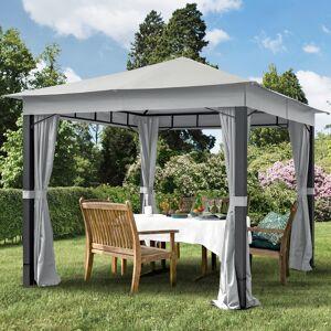 taltpartner.se Trädgårdspaviljonger 3x3m Polyester med PU-beläggning 220 g/m² stone vattentät