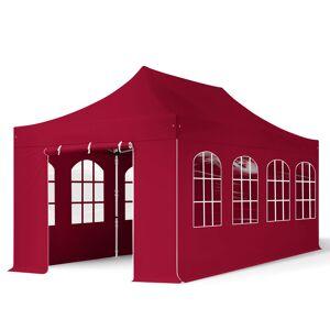 taltpartner.se Snabbtält 3x6m HögkvalitetsPolyester 400 g/m² röd vattentät