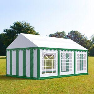 taltpartner.se Partytält 4x6m PVC 500 g/m² grön-vit vattentät