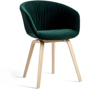Hay-AAC23 Soft chair Oak Matt lacquered, Lola Dk Green