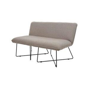 Imerco Home Lounge Sofa - L 130 x H 75 cm - Metal/stof - Grå/sort