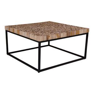 Kruse sofabord 80 x 80 cm i natur tre og metallstell.