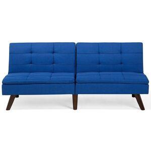 Beliani Bäddsoffa 3-sits koboltblå RONNE
