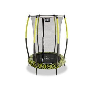 EXIT inom&utomhus-studsmatta Tiggy 140cm m. skyddsnät svart/limegrön