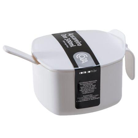 Coza Açucareiro Due com Colher PP 14,8x10,8x7,6cm 300ml cor Branco - COZA