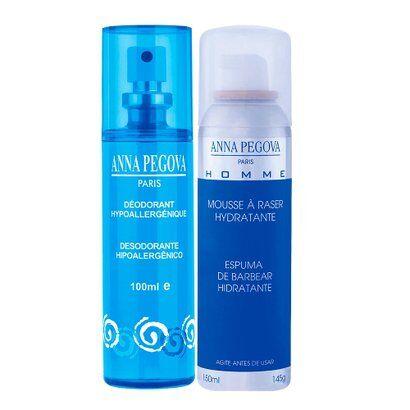 Desodorante sem perfume + Espuma de Barbear Pegoff Anna Pegova - Masculino-Incolor