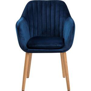 Lomax Emilia Spisebordsstol, Eg/vic Stof, Mørkeblå