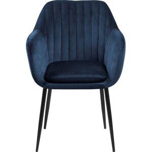 Lomax Emilia Spisebordsstol, Metal/vic Stof, Mørkeblå