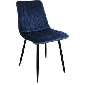 Nimara.dk Enya - Mørkeblå velour stol