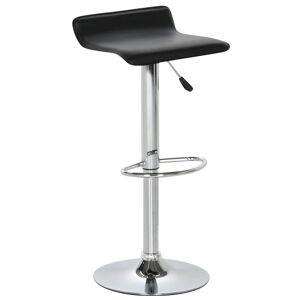 Nimara.dk Ella - Sort barstol med krom ben (justerbar højde)