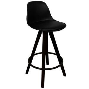 Nimara.dk Rob - Sort barstol 65 cm (Barstol til køkkenbord)