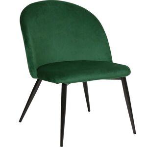Nimara.dk Alice - Velour lænestol i mørkegrøn