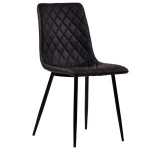 Nimara.dk Line - Sort kunstlæder stol