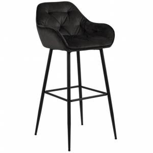 Nimara.dk Mario - Sort barstol 65 cm (Barstol til køkken)