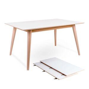 Nimara.dk Nora - Hvidt spisebord 150/190/230 cm med 2 stk tillægsplader (Ekstra slidstærk