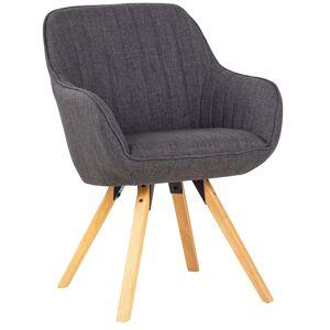 Nimara.dk Sienna - Grå drejestol stof med armlæn