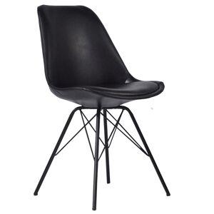 Nimara.dk Jack - Sort kunstlæder spisebordsstol