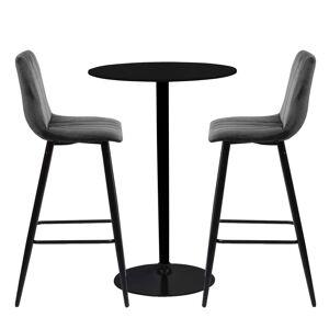 Nimara.dk Stella barbord sæt - Stella bord + 2 Enya bar stole - Grå
