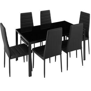 tectake Spisebordssæt Brandenburg - sort