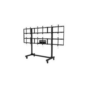 Peerless-AV Portable Video Wall DS-C555-3X2 - Vogn med hjul for 3x2 videovæg - sort, pudder coat - skærmstørrelse: 46-55