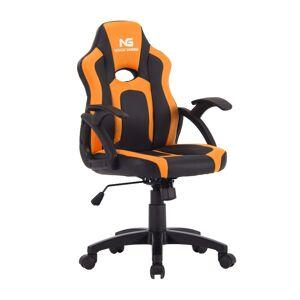 Nordic Gaming Little Warrior gamer stol sort og orange.
