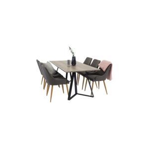 Homeroom Maggie Spisebord + Pia stol (6-pk)