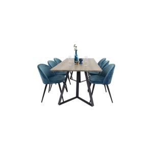 Homeroom Maggie Spisebord og 6 Velvet stol