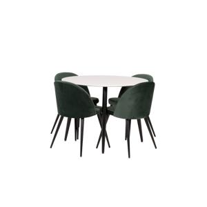 Homeroom Spisegruppe Pia spisebord og 4 stk. Valleta spisestoler