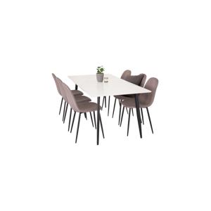 Homeroom Spisegruppe Penally spisebord og 6 stk. Penally spisestoler