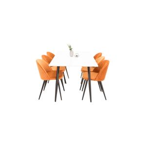 Homeroom Spisegruppe Penally spisebord og 6 stk. Valleta spisestoler