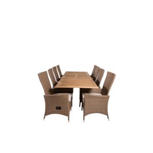 Homeroom Pila spisebord og 8 stk Prim regulerbare spisestoler